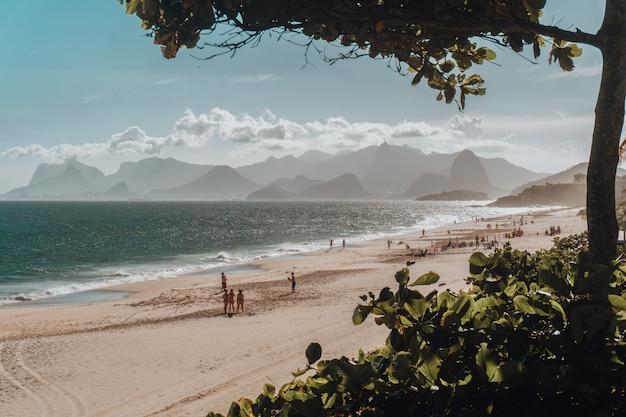 Bela vista da praia e do mar Foto gratuita