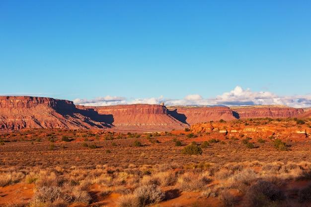 Belas paisagens do deserto americano Foto Premium