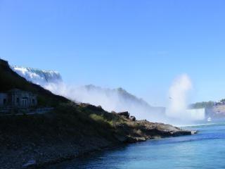 Beleza das cataratas do niágara, correndo, borrão Foto gratuita
