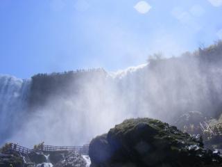 Beleza das cataratas do niágara Foto gratuita