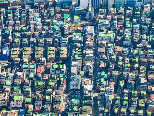 Belo edifício de arquitetura na cidade de seul Foto gratuita
