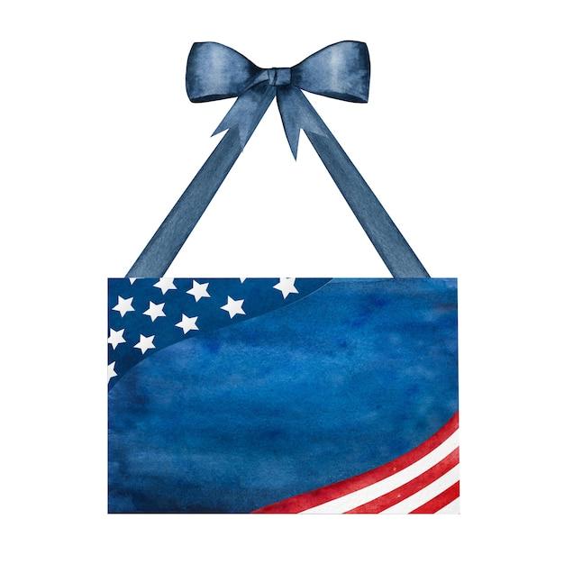 Belo padrão com as cores da bandeira americana. Foto Premium