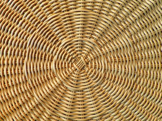 Belo padrão e textura de luz natural brown rattan furniture Foto Premium