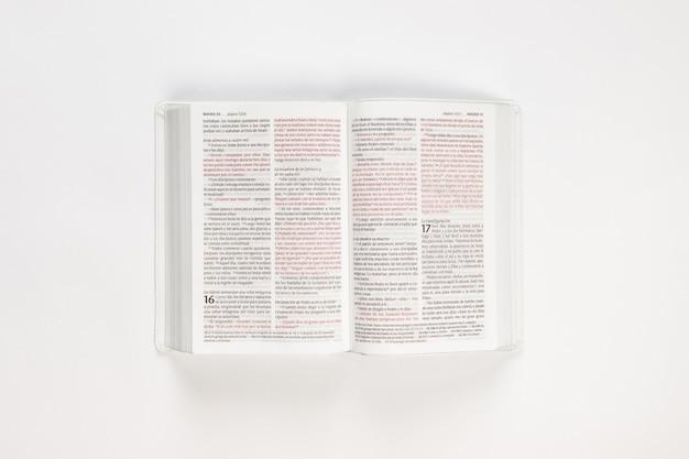 Bíblia aberta branco holly bíblia em branco Foto gratuita
