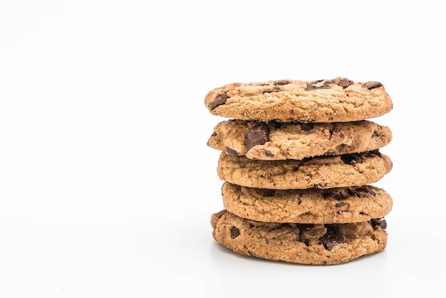 Biscoitos com chocolate escuro Foto Premium