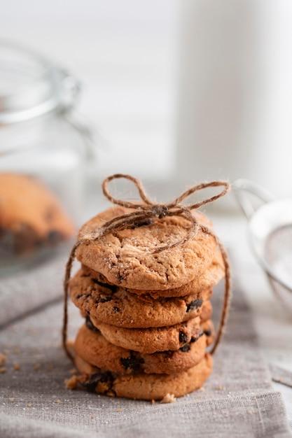 Biscoitos de chocolate close-up Foto gratuita