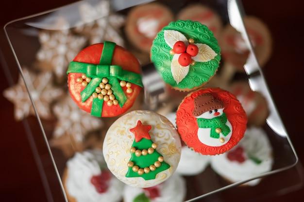 Biscoitos natalinos Foto Premium