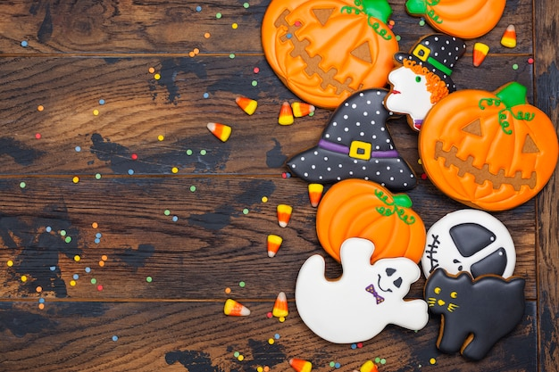 Biscoitos para festa de halloween Foto Premium