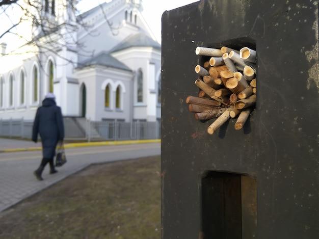 Bitucas de cigarro Foto Premium