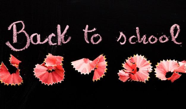 Blackboard com inscrição de volta à escola Foto gratuita