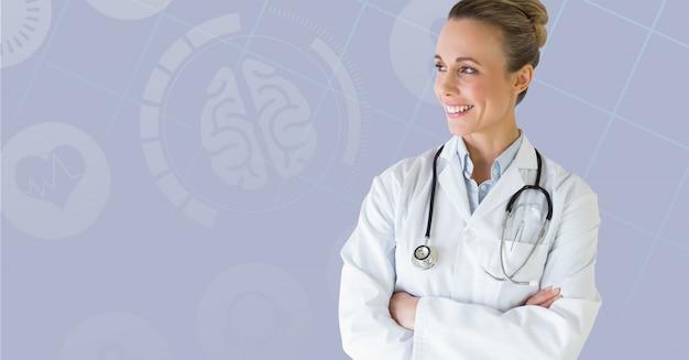 Blank bonito médico de saúde médico Foto gratuita