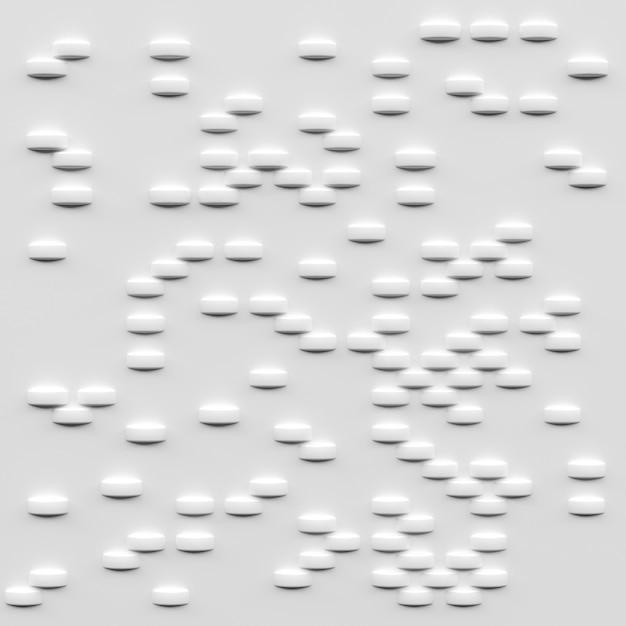 Blocos brancos abstratos, renderização em 3d Foto Premium