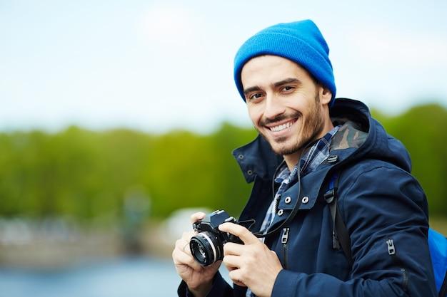 Blogger em viagem Foto gratuita