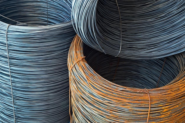 Bobinas de aço para construção Foto Premium