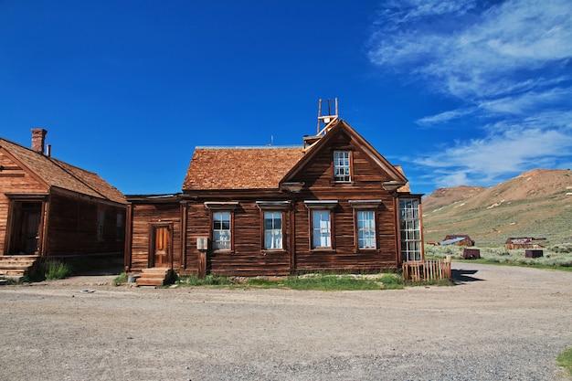 Bodie, cidade abandonada de garimpeiros, eua Foto Premium