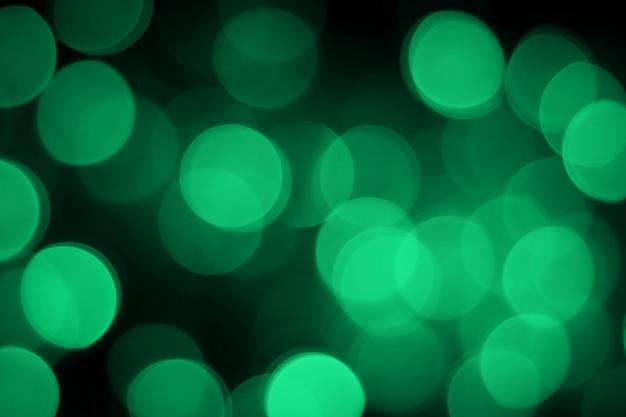 Bokeh abstrata em fundo verde Foto Premium