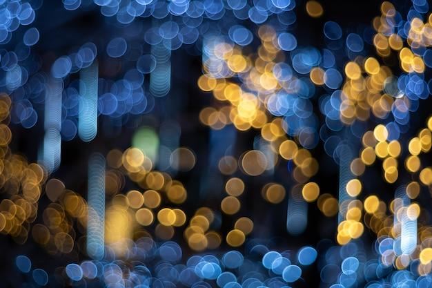 Bokeh circular abstrato de luz turva Foto Premium
