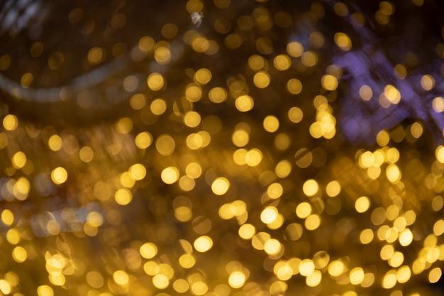 Bokeh com multi cores, luzes festivas bokeh de fundo Foto Premium