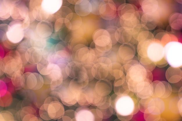 Bokeh desfocado luxo natal luz rosa suave Foto Premium