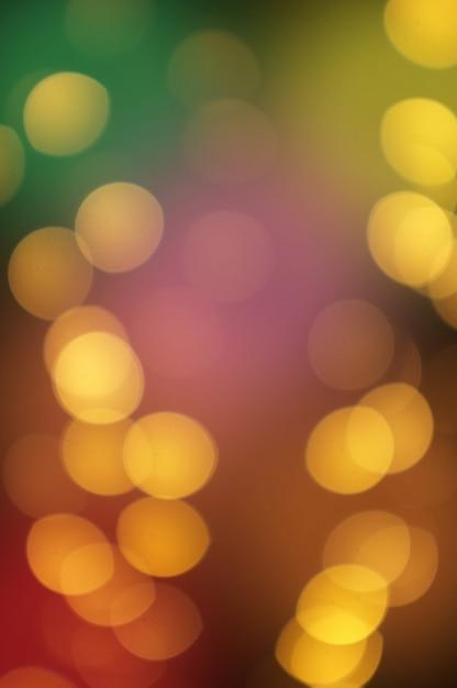 Bokeh dourado luz abstrata, fundo laranja Foto Premium