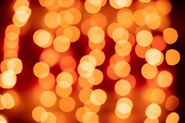 Bokeh vermelho turva luzes de fundo Foto Premium