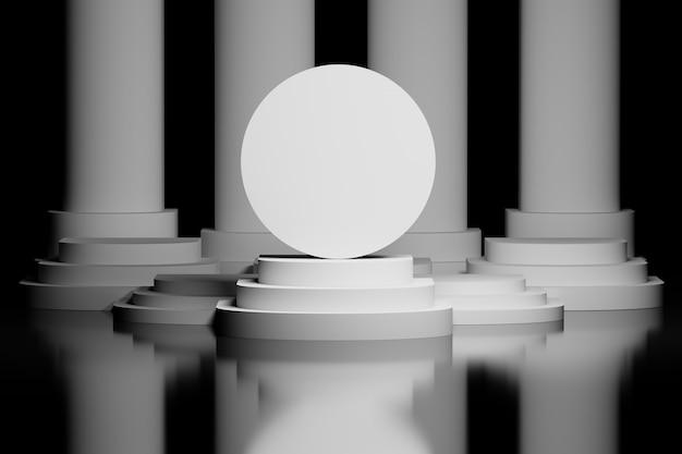Bola circular em um pedestal Foto Premium