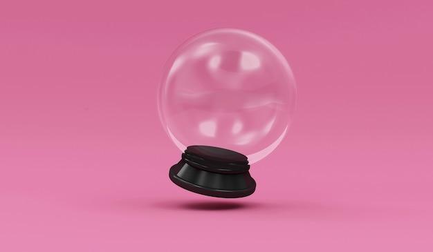 Bola de cristal vazia no fundo do estúdio Foto Premium