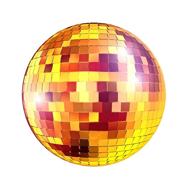 Bola de espelhos disco de ouro Foto Premium