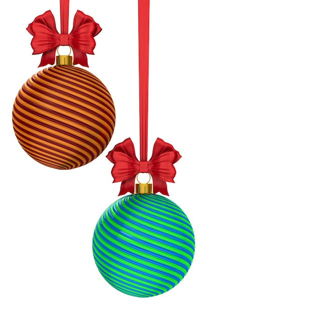 Bola de natal em fundo branco. ilustração 3d isolada Foto Premium