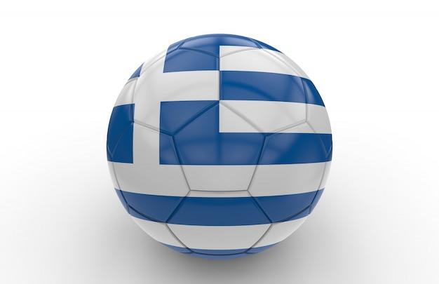 Bola futebol, com, bandeira grega Foto Premium