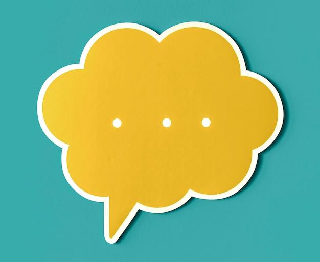 Bolha do discurso de conversa cortada ícone Foto gratuita