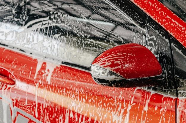 Bolhas de lavagem de carro Foto Premium