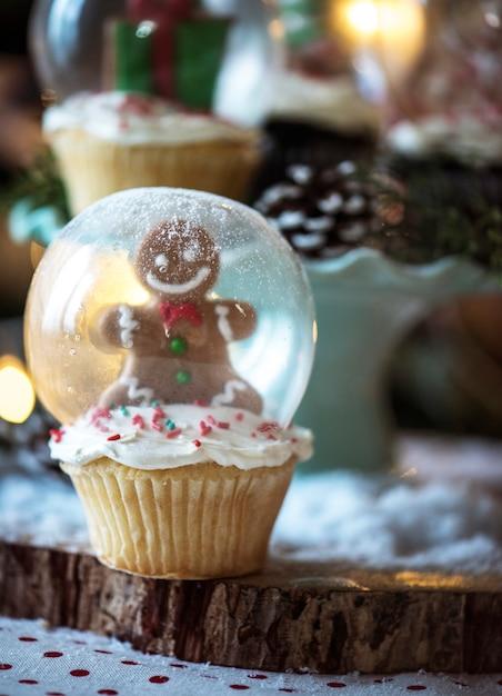 Bolinho de globo de neve para o natal Foto Premium
