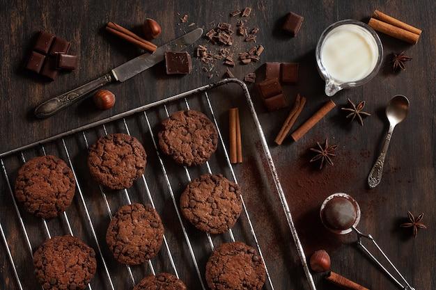 Bolinhos de chocolate caseiros Foto Premium