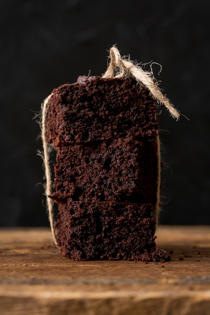 Bolo caseiro de chocolate Foto gratuita