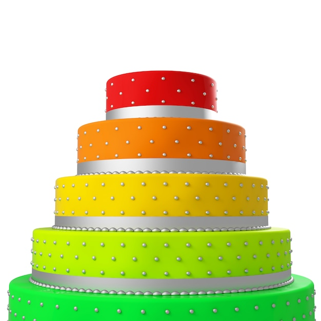 Bolo de casamento colorido Foto Premium