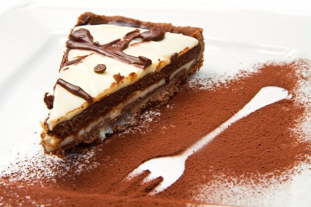 Bolo de chocolate Foto Premium