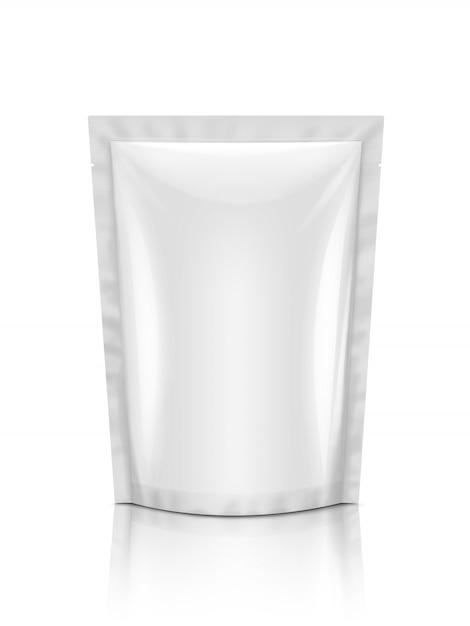 Bolsa de lanche em branco embalagem isolada Foto Premium