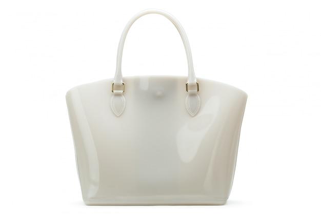 Bolsa feminina de couro branco Foto Premium
