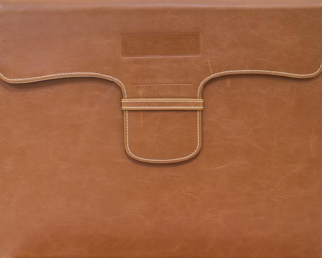 Bolsa marrom para fundo de papel de documento Foto Premium