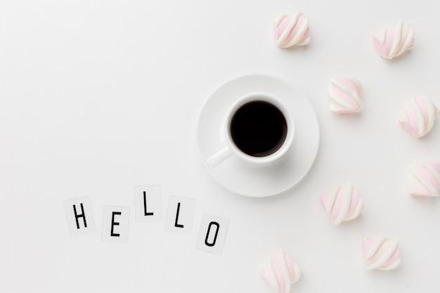 Bom dia café com lanche doce Foto gratuita