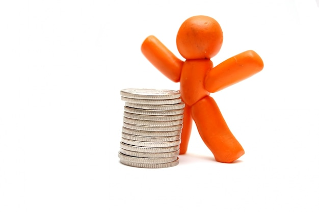 Boneca com dinheiro em espécie Foto gratuita