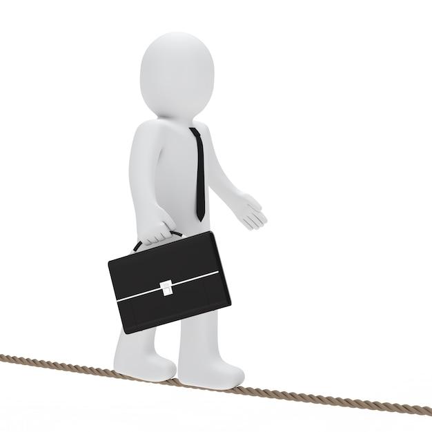 Boneca de pano anda em uma corda Foto gratuita