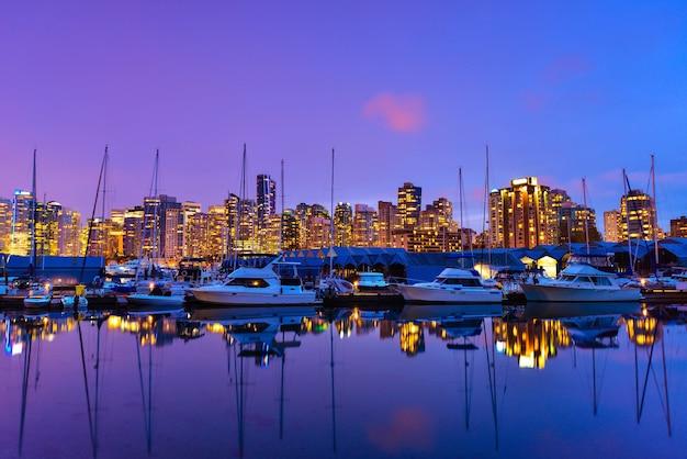 Bonito, vista, em, vancouver, centro cidade, columbia britânica, canadá Foto Premium