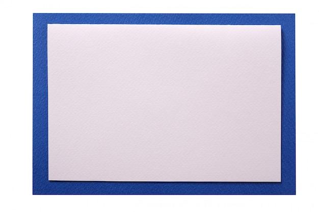 Borda azul de cartão de convite de natal isolada Foto gratuita