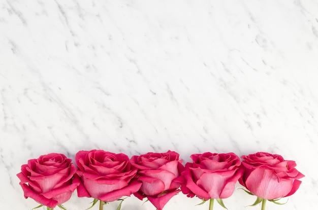 Borda inferior feita com rosas rosa Foto gratuita