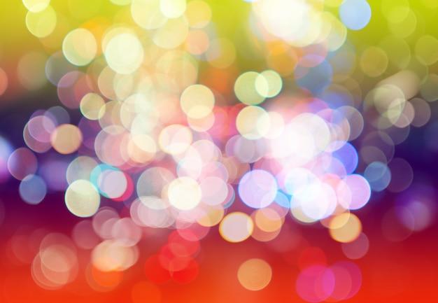 Borradas de bokeh colorido luz abstrato Foto Premium