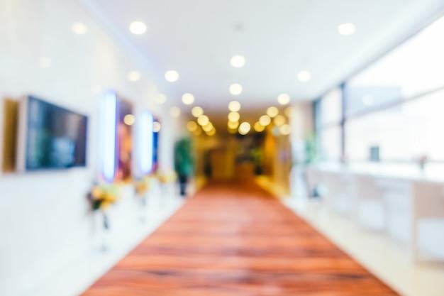 Borrão abstrata e hotel desfocado e interior do átrio Foto gratuita