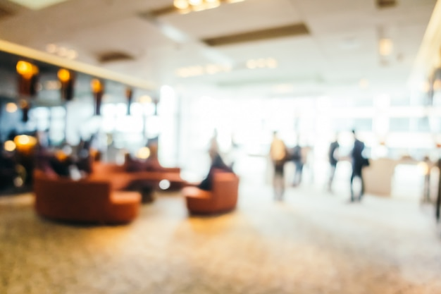 Borrão abstrata e lobby do hotel desfocado Foto gratuita