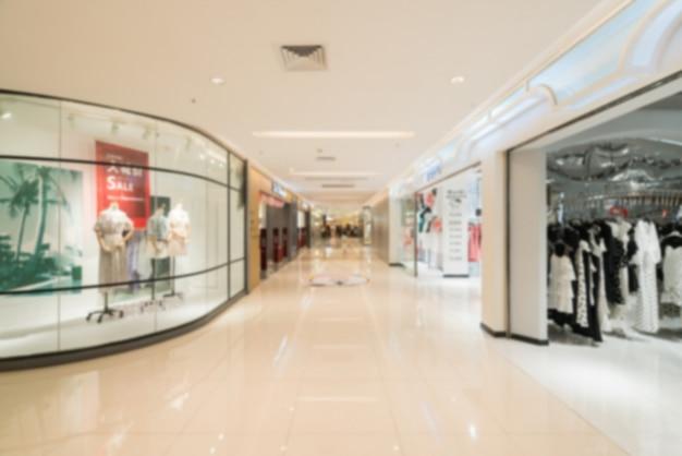 Borrão abstrata e shopping desfocado no interior da loja de departamento Foto Premium